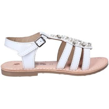 Topánky Dievčatá Sandále Asso 65952 Biely