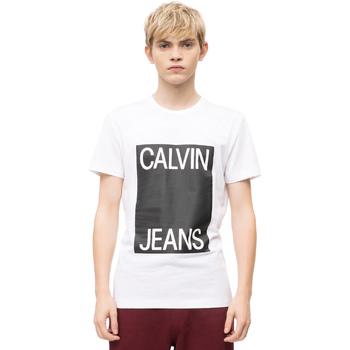 Oblečenie Muži Tričká s krátkym rukávom Calvin Klein Jeans J30J309839 Biely