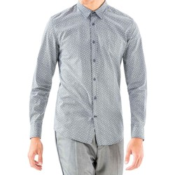 Oblečenie Muži Košele s dlhým rukávom Antony Morato MMSL00501 FA430345 Modrá