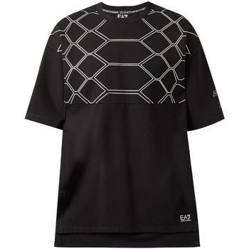 Oblečenie Muži Tričká s krátkym rukávom Ea7 Emporio Armani 6ZPT43 PJQ0Z čierna