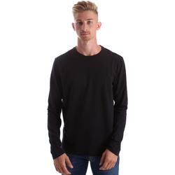 Oblečenie Muži Tričká s dlhým rukávom Gas 300187 čierna