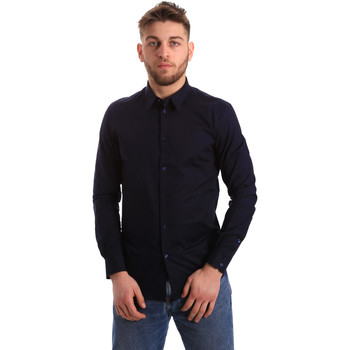 Oblečenie Muži Košele s dlhým rukávom Gaudi 821BU45014 Modrá