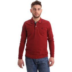 Oblečenie Muži Polokošele s dlhým rukávom Key Up 2RG71 0001 Červená