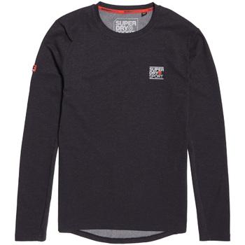 Oblečenie Muži Tričká s dlhým rukávom Superdry MS3002RR čierna