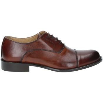 Topánky Muži Richelieu Exton 6014 Hnedá