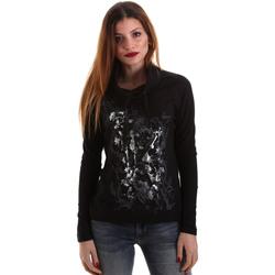 Oblečenie Ženy Tričká s dlhým rukávom Key Up 5VG84 0001 čierna
