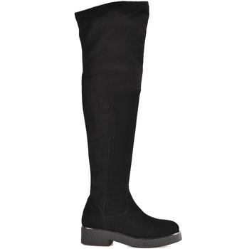 Topánky Ženy Cizmy Nad Kolenà Mally 6311 čierna