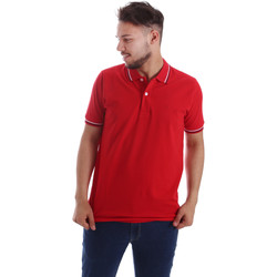 Oblečenie Muži Polokošele s krátkym rukávom Key Up 2Q70G 0001 Červená