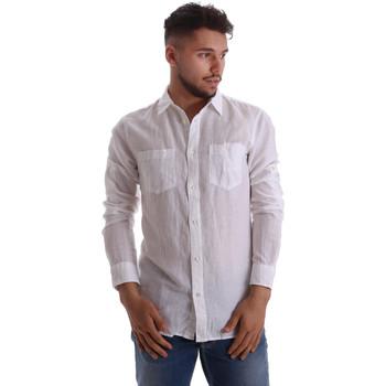 Oblečenie Muži Košele s dlhým rukávom Gas 151150 Biely