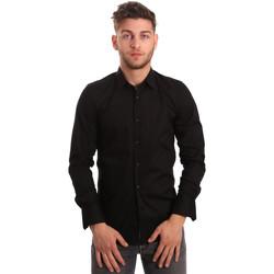 Oblečenie Muži Košele s dlhým rukávom Antony Morato MMSL00375 FA450001 čierna