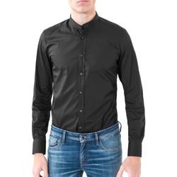 Oblečenie Muži Košele s dlhým rukávom Antony Morato MMSL00376 FA450001 čierna