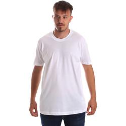 Oblečenie Muži Tričká s krátkym rukávom Key Up 2M915 0001 Biely