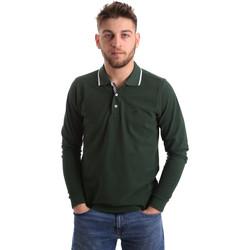 Oblečenie Muži Polokošele s dlhým rukávom Key Up 2L711 0001 Zelená