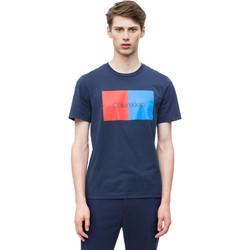 Oblečenie Muži Tričká s krátkym rukávom Calvin Klein Jeans K10K103497 Modrá
