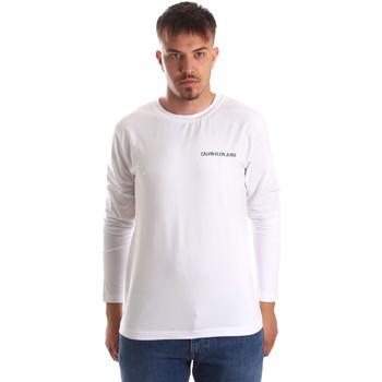 Oblečenie Muži Tričká s dlhým rukávom Calvin Klein Jeans J30J310489 Biely