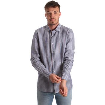 Oblečenie Muži Košele s dlhým rukávom Antony Morato MMSL00520 FA420069 Modrá