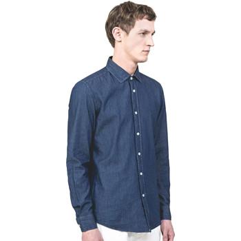Oblečenie Muži Košele s dlhým rukávom Antony Morato MMSL00520 FA440019 Modrá