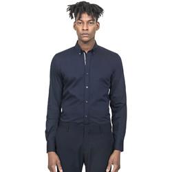 Oblečenie Muži Košele s dlhým rukávom Antony Morato MMSL00523 FA450001 Modrá