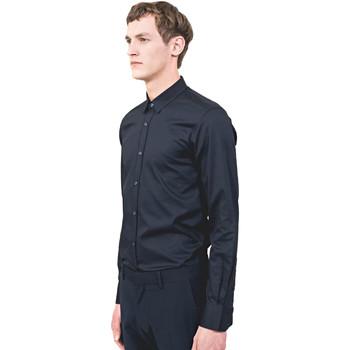 Oblečenie Muži Košele s dlhým rukávom Antony Morato MMSL00525 FA440012 Modrá