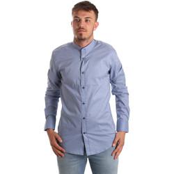 Oblečenie Muži Košele s dlhým rukávom Antony Morato MMSL00526 FA430086 Modrá