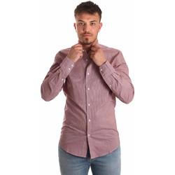 Oblečenie Muži Košele s dlhým rukávom Antony Morato MMSL00526 FA430360 Červená