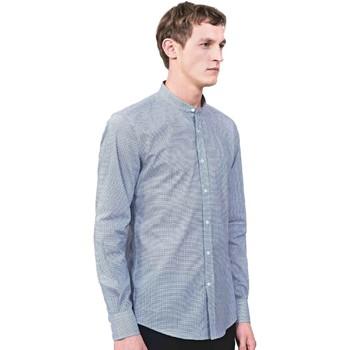 Oblečenie Muži Košele s dlhým rukávom Antony Morato MMSL00526 FA430360 Modrá