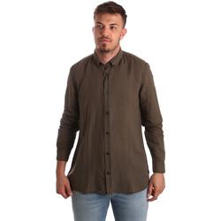 Oblečenie Muži Košele s dlhým rukávom Antony Morato MMSL00530 FA400051 Hnedá