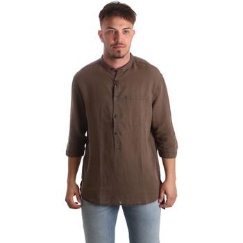 Oblečenie Muži Košele s dlhým rukávom Antony Morato MMSL00531 FA400051 Hnedá