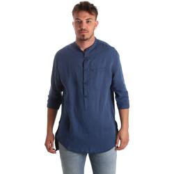 Oblečenie Muži Košele s dlhým rukávom Antony Morato MMSL00531 FA400051 Modrá