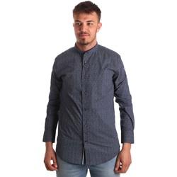 Oblečenie Muži Košele s dlhým rukávom Antony Morato MMSL00532 FA430370 Modrá
