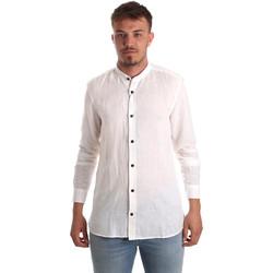 Oblečenie Muži Košele s dlhým rukávom Antony Morato MMSL00547 FA400051 Biely