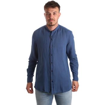 Oblečenie Muži Košele s dlhým rukávom Antony Morato MMSL00547 FA400051 Modrá