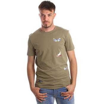 Oblečenie Muži Tričká s krátkym rukávom Antony Morato MMKS01515 FA100144 Zelená