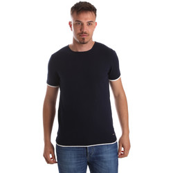 Oblečenie Muži Tričká s krátkym rukávom Gaudi 911FU53007 Modrá