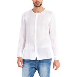 Oblečenie Muži Košele s dlhým rukávom Gaudi 911BU45002 Biely