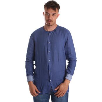 Oblečenie Muži Košele s dlhým rukávom Gaudi 911BU45002 Modrá