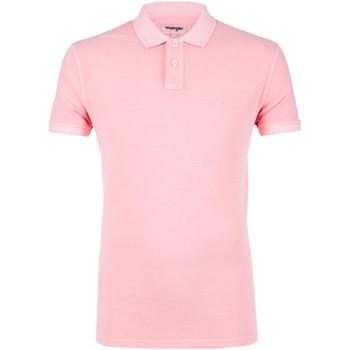 Oblečenie Muži Polokošele s krátkym rukávom Wrangler W7C15K Ružová