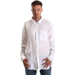 Oblečenie Muži Košele s dlhým rukávom Navigare NV92067 BD Biely