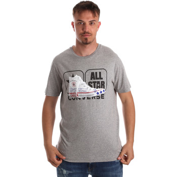 Oblečenie Muži Tričká s krátkym rukávom Converse 10017575-A01 Šedá