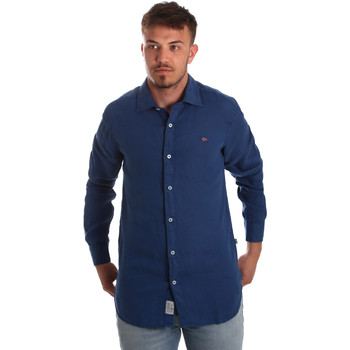 Oblečenie Muži Košele s dlhým rukávom Napapijri N0YIL7 Modrá