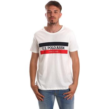 Oblečenie Muži Tričká s krátkym rukávom U.S Polo Assn. 51520 51655 Biely