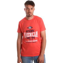 Oblečenie Muži Tričká s krátkym rukávom U.S Polo Assn. 52231 51331 Oranžová