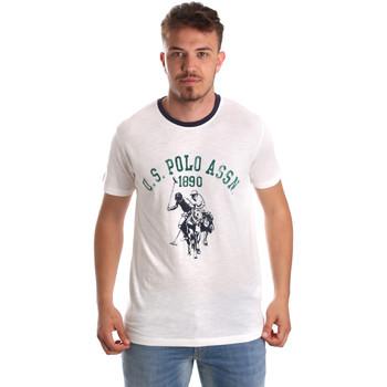 Oblečenie Muži Tričká s krátkym rukávom U.S Polo Assn. 52465 51334 Biely