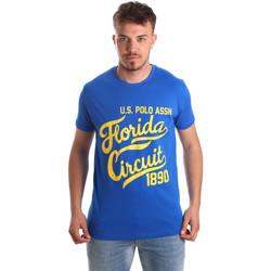 Oblečenie Muži Tričká s krátkym rukávom U.S Polo Assn. 49351 51340 Modrá
