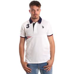 Oblečenie Muži Polokošele s krátkym rukávom U.S Polo Assn. 41029 51252 Biely