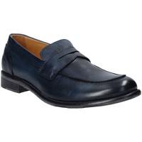 Topánky Muži Mokasíny Exton 3106 Modrá