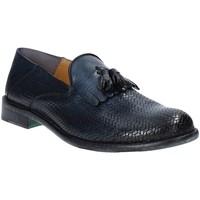 Topánky Muži Mokasíny Exton 3105 Modrá