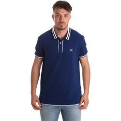 Oblečenie Muži Polokošele s krátkym rukávom NeroGiardini P972210U Modrá