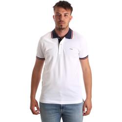Oblečenie Muži Polokošele s krátkym rukávom Key Up 2Q62G 0001 Biely