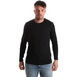 Oblečenie Muži Tričká s dlhým rukávom Key Up 2E96B 0001 čierna